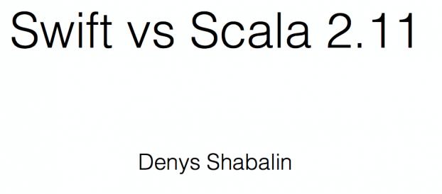 Swift vs. Scala