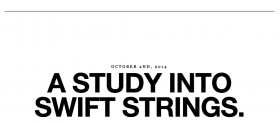 A study into swift strings.